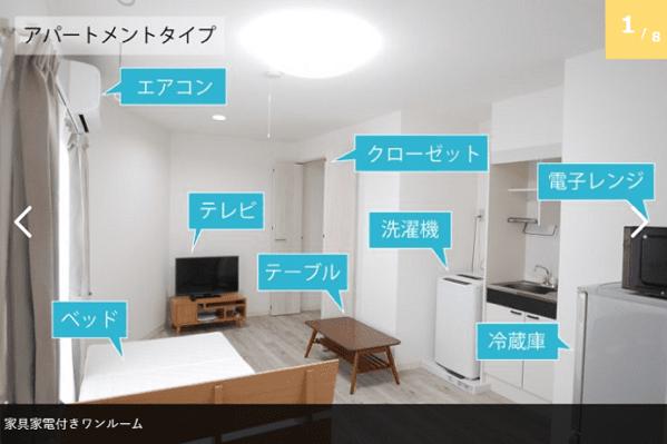 家具付アパートメント 1